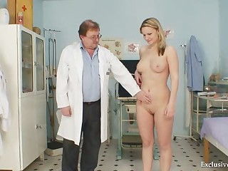 Zaneta Has Her Pussy Gyno Speculum Examined By Old Doctor