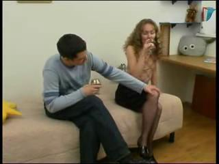 Young guy fucks sleeping mature lady in pantyhose