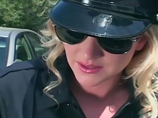 Blonde Corset MILF Office Pornstar Uniform