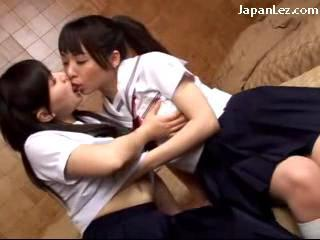 Young Schoolgirls In Uniform Sucking Girlfriends Strapon Getting Her Pussy Fucked