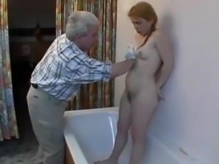 Amateur Bathroom Hairy Old and Young Redhead Small Tits Teen