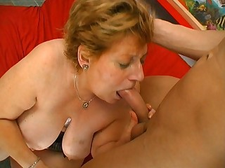 Fat mature fucks and sucks