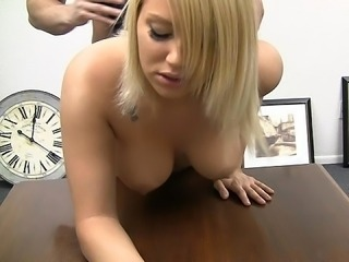 Amazing Blonde Casting Doggystyle Hardcore Teen