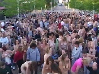 NUDISTS IN PUBLIC