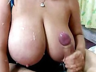 Cum on big tits