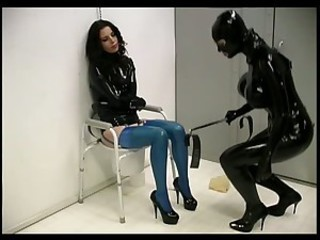 Submissive Anastasia Gets Her Hot Ass Fucked In a Latex Straitjacket