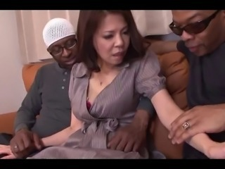 Japanese Wife Misato Shiraishi Fucks 3 BBC (Uncensored)