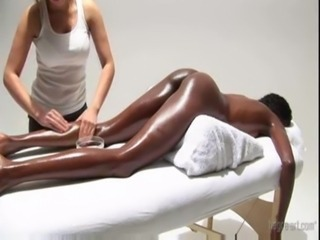 very hot! white girl massaging  ... unorthodox
