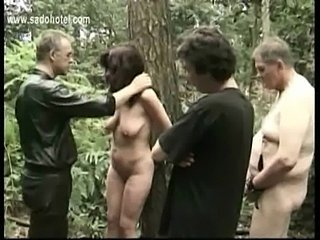 Hot and horny resultant tied to tree to got played to wide of two free