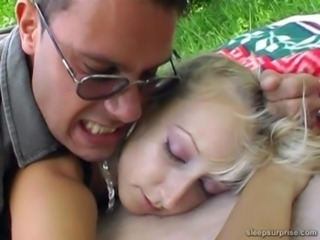 Blonde Cute Outdoor Sleeping Teen