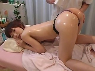 Ass Babe Massage Oiled Panty Pornstar