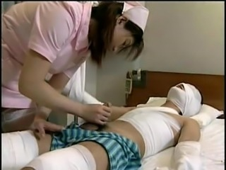 Cute Handjob Japanese Nurse Teen Uniform
