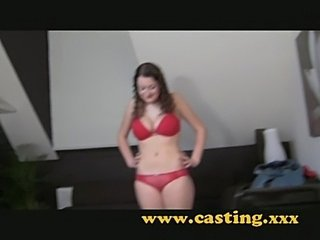Casting - confident 18 year old with huge natural breasts  free