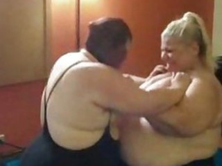 BBW babes wrestling be incumbent on real