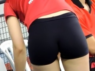 ass on volleyball match 2.1