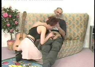 Blowjob Clothed Daddy Old and Young Vintage