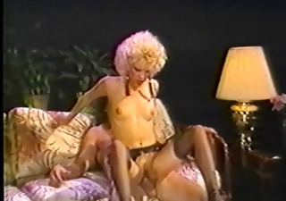 Blonde  Pornstar Riding Small Tits Stockings Vintage