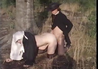Clothed Daddy Doggystyle Nun Outdoor Uniform Vintage