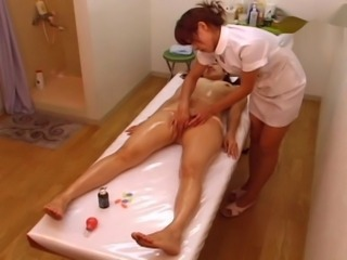 Asian HiddenCam Japanese Lesbian Massage Oiled Voyeur