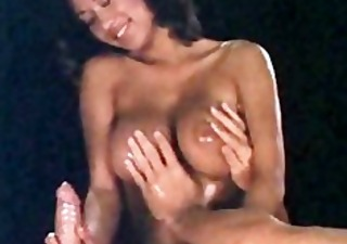 Asian Big Tits Cute Handjob  Natural Oiled Vintage