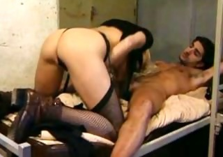 Ass Blowjob Stockings Vintage