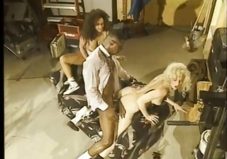 Hardcore Interracial  Pornstar Threesome Vintage