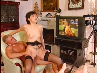Casting Hardcore  Riding Skinny Small Tits Stockings Vintage