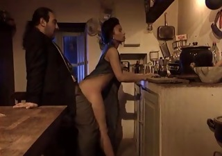 Doggystyle European Italian Kitchen  Pornstar Vintage Wife