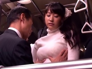 Asian Bus Cute Japanese MILF Natural Public