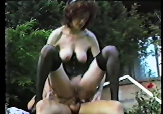 Anal Mature Outdoor Riding  Stockings Vintage