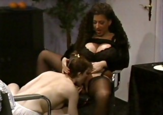 breasty tiziana redford in darksome lingerie lesbo scene