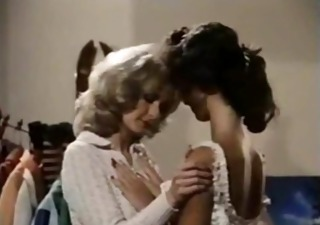 vintage mature lesbo teaches young brunette hair