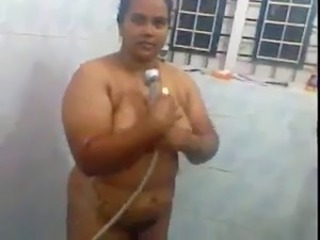 Amateur Chubby Indian  Showers Wife