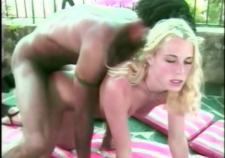 blonde wants to try darksome cock