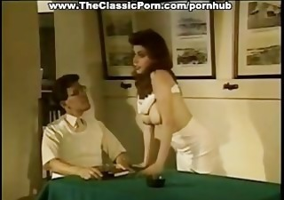 retro porn with curly cookie creampie