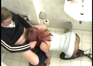 Blowjob Clothed Pantyhose Toilet Vintage