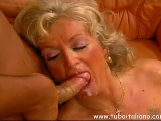 Blowjob Cumshot European Italian Mature Swallow