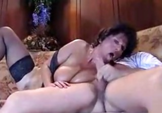 Big Tits Blowjob European French  Natural Vintage