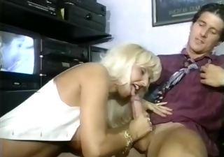 Blonde Blowjob  Office Vintage