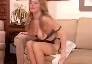vintage hairy mature has a threesome and dp in lingerie!