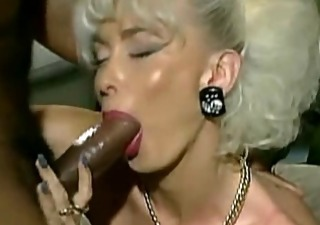 vintage busty platinum blond with 4 bbc facial