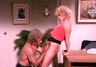 k c williams and randy on the desk tags, golden-haired retro classic sex orall-service ejaculation