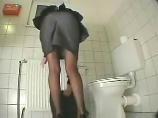 Sister in toilet masturbates before go to work. Hidden cam
