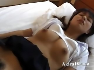 Sexy amateur from asian enjoying porn