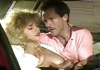 Big Tits Car  Natural Pornstar Vintage