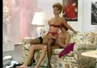 Lingerie  Mom Old and Young Pornstar Riding Stockings Vintage