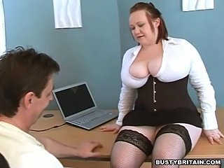 Amazing Big Tits Chubby  Natural Stockings