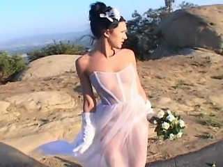 Bride Brunette Cute Outdoor Teen