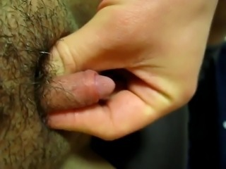Hairy Pussy Clit Close up