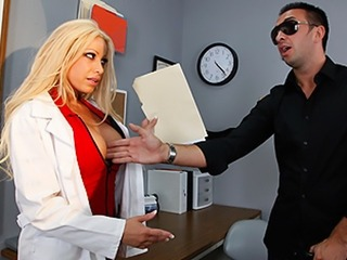 Big Tits Blonde MILF Nurse Pornstar Uniform